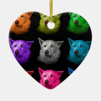 Siberische Schor Kunst 2103 BB van de Hond Keramisch Hart Ornament
