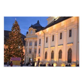 Sibiu Kerstboom Foto Kunst