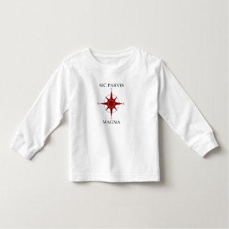 Sic Parvis de Magna T-shirt van het Sleeve van de