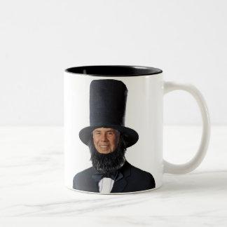 Sic semper tyrannis! Gelukkige Presiden… Tweekleurige Koffiemok