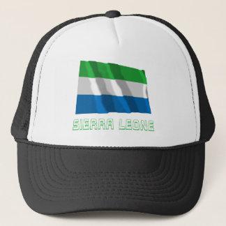 Sierra Leone die Vlag met Naam golven Trucker Pet