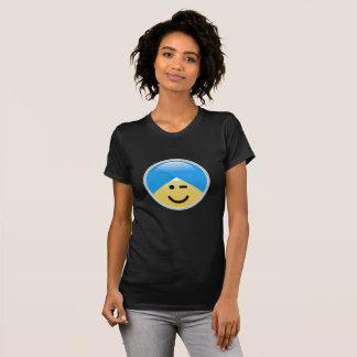 Sikh Amerikaan knipoogt de T-shirt van Emoji van