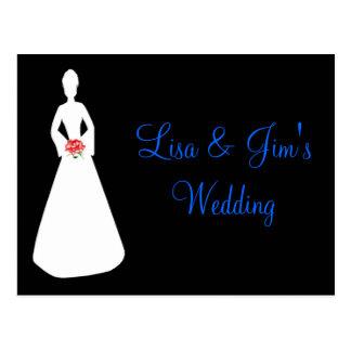 Silhouet I van de bruid Wens Kaart