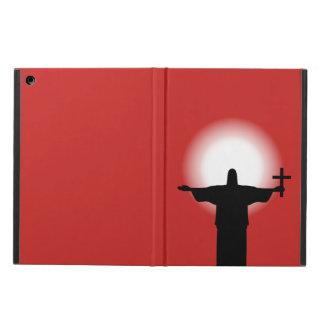 Silhouet met een kruis iPad air hoesje