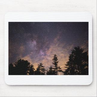 Silhouet van Bomen bij Nacht Muismat