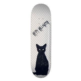 Silhouet van de Kat van Halloween het Zwarte Persoonlijk Skateboard