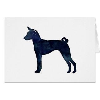 Silhouet van de Waterverf van de Hond van Basenji Briefkaarten 0
