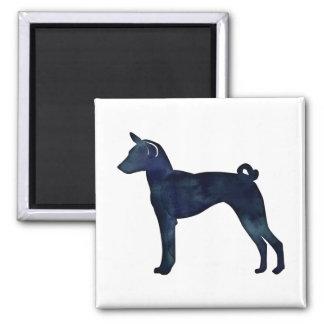 Silhouet van de Waterverf van de Hond van Basenji Magneet