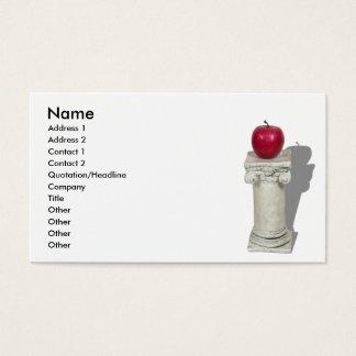 SimpleAppleColumn061210Shadows, Naam, richt 1… Visitekaartjes