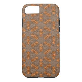 Sinaasappel en Mocha Bruine iPhone 7 Hoesje