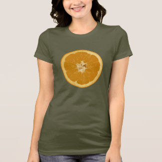 sinaasappel. realistisch t shirt