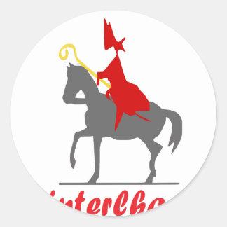 Sinterklaas Ronde Sticker