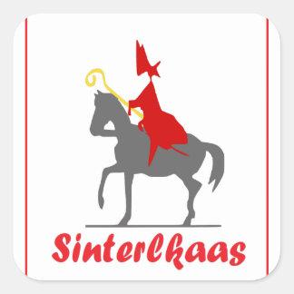 Sinterklaas Vierkante Sticker