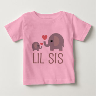 Sis van Lil het Idee van de Gift van de Olifant Baby T Shirts