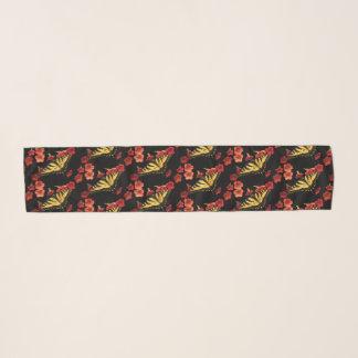 Sjaal van de Chiffon van de Bloemen van de Vlinder