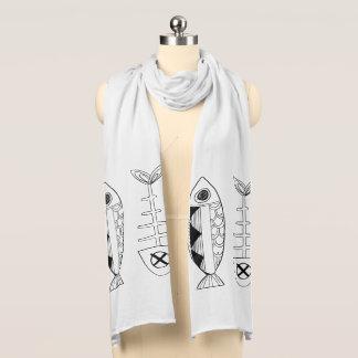 Sjaal van Jersey van vissen de Witte Sjaal