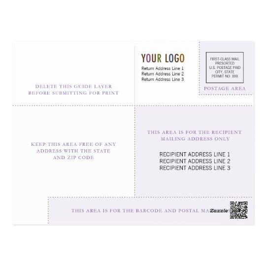 Sjabloon de bedrijfs van het Briefkaart met Logo &