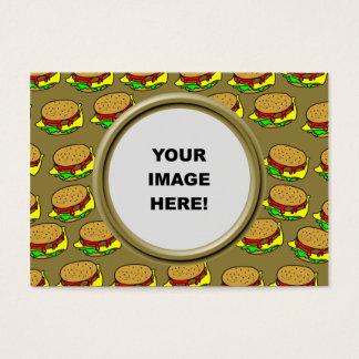 Sjabloon, de Grens van de Hamburger Visitekaartjes