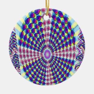 SJABLOON DIY van de Kleur van het Afbeelding van Rond Keramisch Ornament