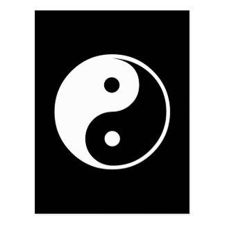 Sjabloon van de Illustratie van Yang van Yin de Briefkaart