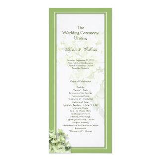 Sjabloon van het Programma van het Huwelijk van de 10,2x23,5 Uitnodiging Kaart