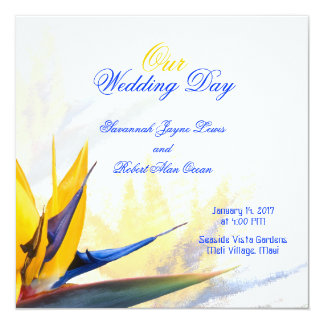 Sjabloon van het Programma van het Huwelijk van de 13,3x13,3 Vierkante Uitnodiging Kaart