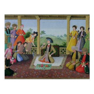 Sjah Suleyman II en zijn hovelingen Briefkaart