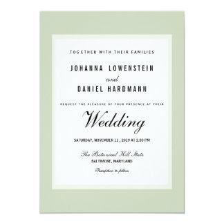 Sjofel Elegant Groen Modern Huwelijk Kaart