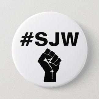 #SJW de sociale Strijder van de Rechtvaardigheid Ronde Button 7,6 Cm