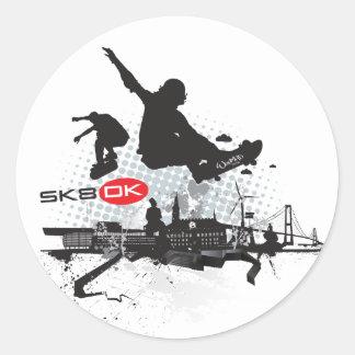 SK8 DK RONDE STICKER