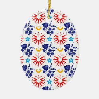 Skandinavische Ditsy Keramisch Ovaal Ornament