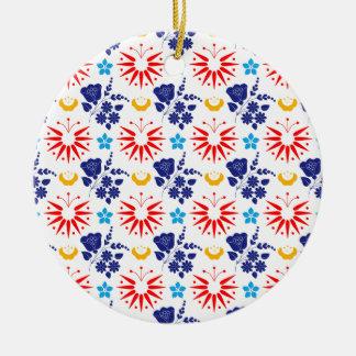 Skandinavische Ditsy Rond Keramisch Ornament