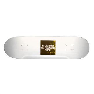 Skateboard - Mijn Laatste Word