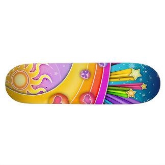 Skateboard - Retro Hemel van de Jaren '60 van het