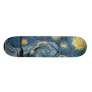 Skateboard van de Nacht van Vangogh het Sterrige