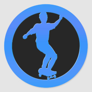 Skateboarder Ronde Sticker