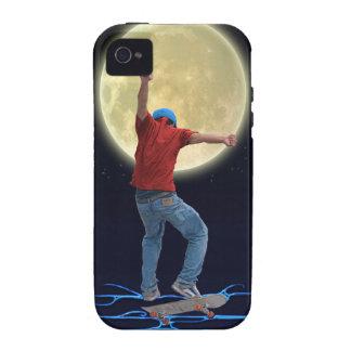 Skateboarder & Volle maan 2 het Art. van de iPhone 4 Hoesje