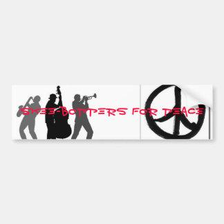 Skee-Boppers voor Vrede Bumpersticker