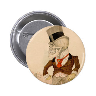 Skeletachtig Kostuum Ronde Button 5,7 Cm