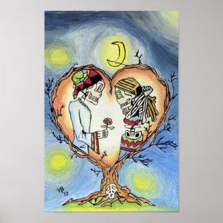 Skeletten in het Spaanse Poster van de Liefde