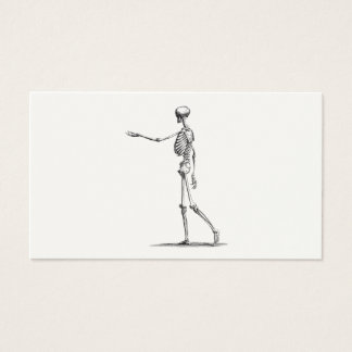Skeletten van de Anatomie van het vintage Skelet Visitekaartjes