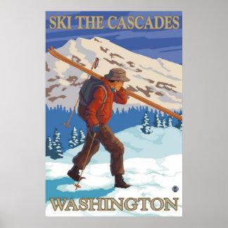 Ski? de Cascades - het Poster van de Reis van de S