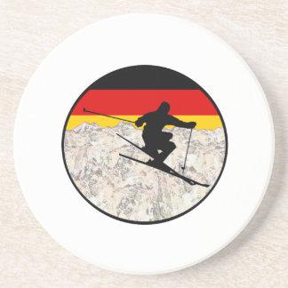 Ski Duitsland Zandsteen Onderzetter