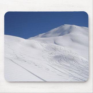 Ski Piste Mousemat Muismatten
