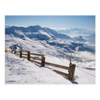 Ski resost briefkaart