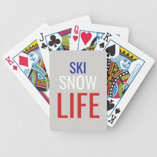 Ski, Sneeuw, het Leven Pak Kaarten