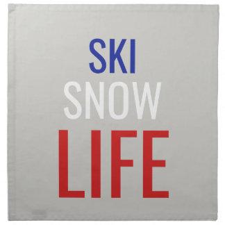 Ski, Sneeuw, het Leven Servet