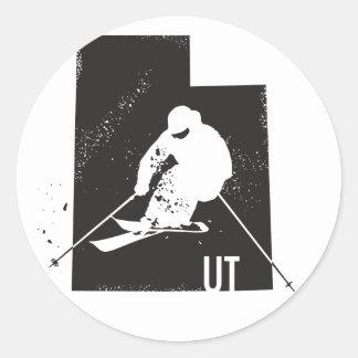 Ski Utah Ronde Sticker