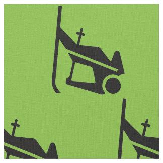 Skiërs op groen