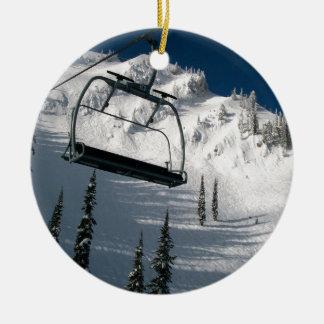 Skilift Rond Keramisch Ornament